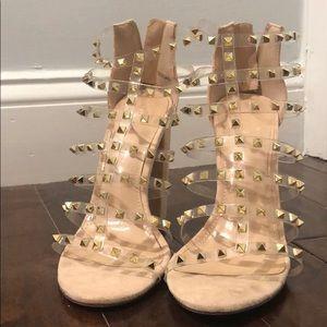 Shoes - Tan suede heels